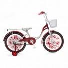 Vaikiškas dviratis mergaitėms Betty, baltas-raudonas
