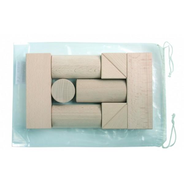 Frobel medinių kaladėlių rinkinys - 10 kaladėlių (106005)