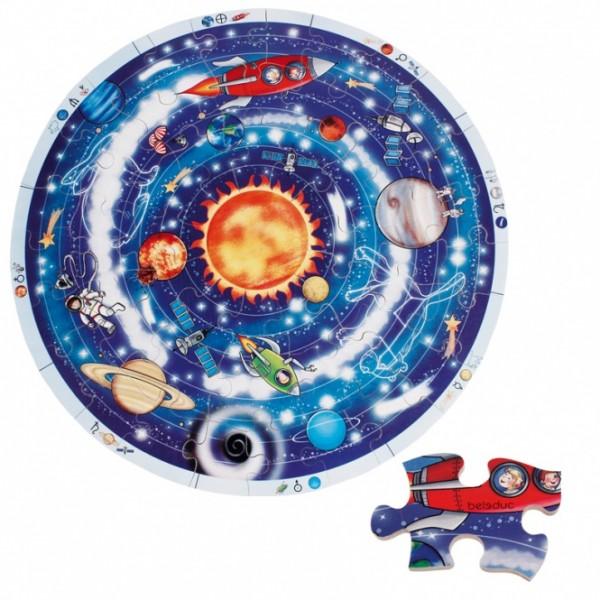 """Beleduc XXL medinė pažinimo dėlionė """"Planetos"""" (11020)"""