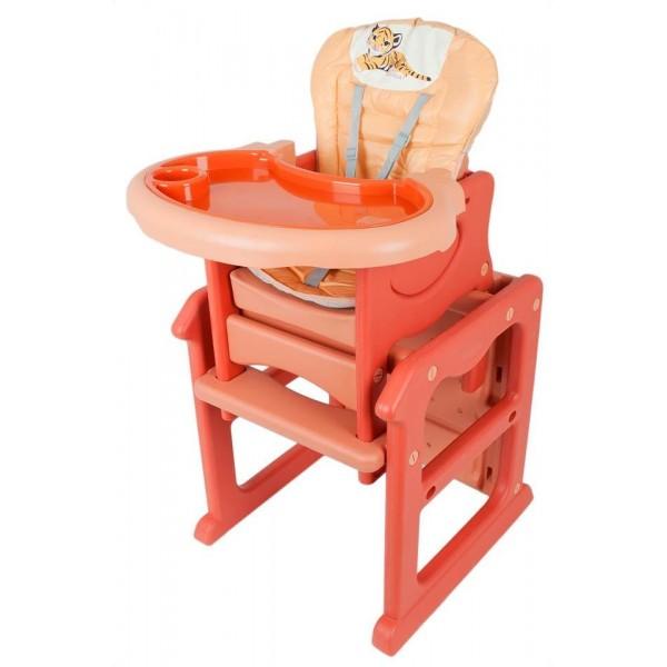 ELGROM 006P PL. Maitinimo kėdutė-staliukas, oranžinė nuotrauka nr.1