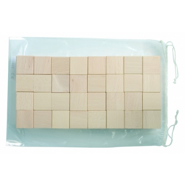 Frobel medinių kaladėlių rinkinys - 128 kaladėlės (107033)