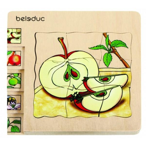 """Beleduc sluoksniuota medinė dėlionė """"Obuolys"""" (17039)"""