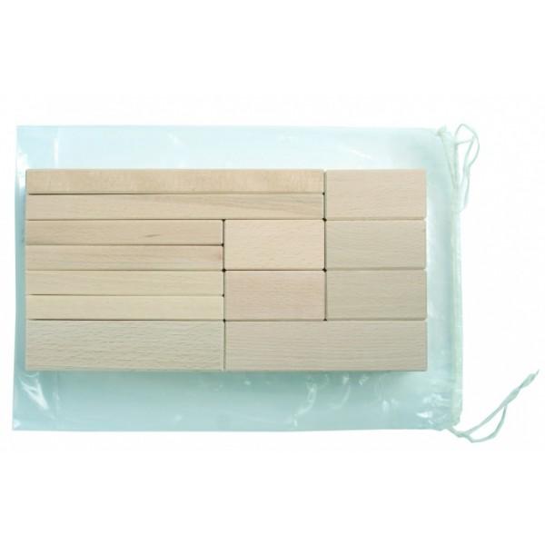 Frobel medinių kaladėlių rinkinys - 17 kaladėlių (103033)