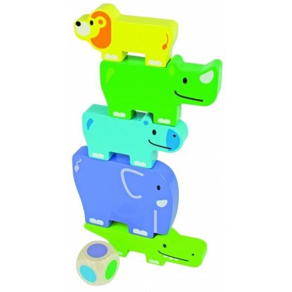 Beleduc lavinamasis medinis žaislas - Draugiški gyvūnai (18009)