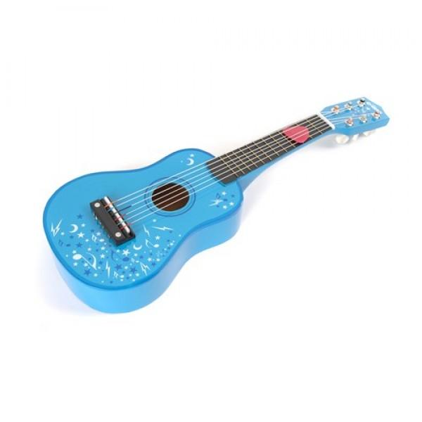 TIDLO medinė vaikiška gitara, mėlyna