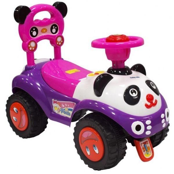 Paspirtukas - mašinytė Panda violetinis