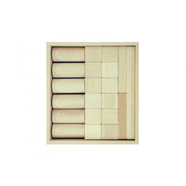 Frobel medinių kaladėlių rinkinys - 21 kaladėlių medinėje dėžėje (201205)