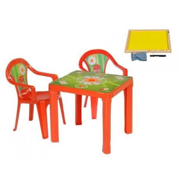 3TOYSM ZMT vaikiškas staliukas ir kėdutės su piešimo lenta  nuotrauka nr.2