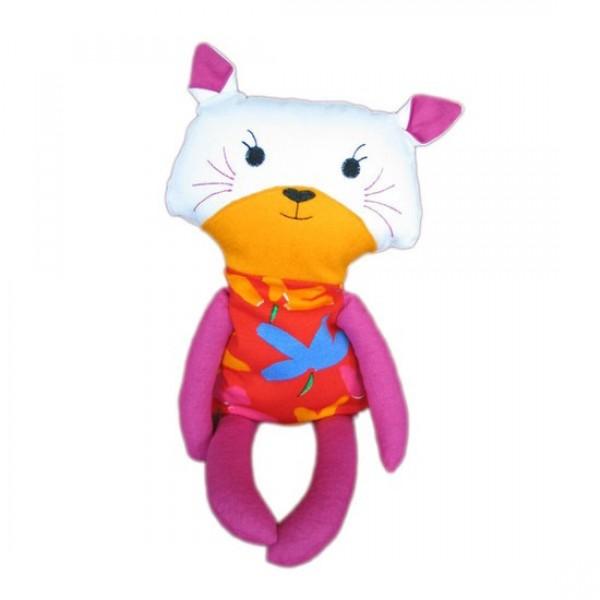 Grikių lukštų žaisliukas-šildyklė kačiukas
