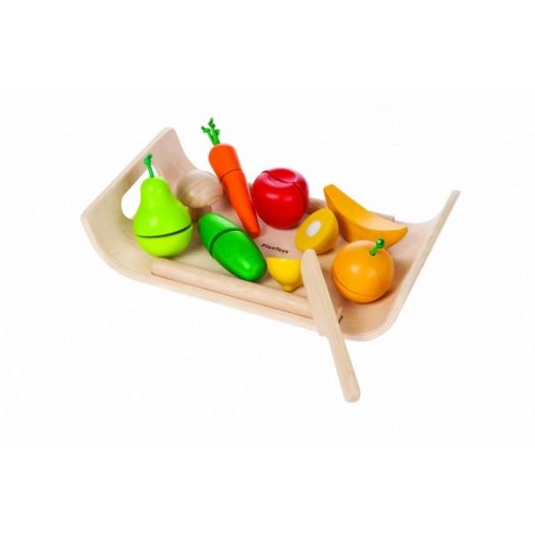PlanToys lavinimo priemonė - Vaisių ir daržovių asorti (PT3416)