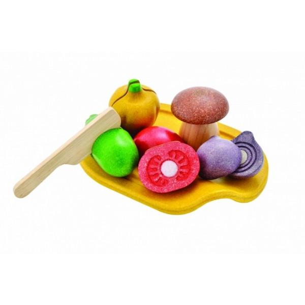 PlanToys lavinimo priemonė - Daržovių asorti rinkinys (PT3601)