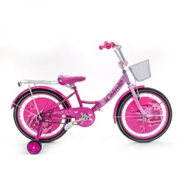 Vaikiškas dviratis Cinderella 4-8 metų mergaitėms