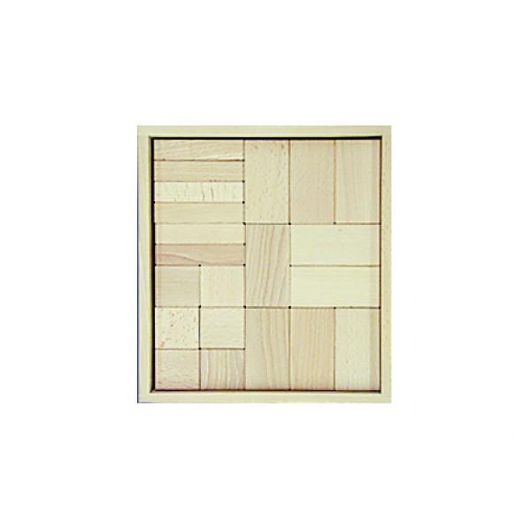 Frobel medinių kaladėlių rinkinys - 42 kaladėlės medinėje dėžėje (205014)