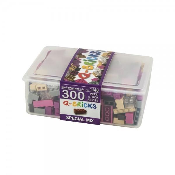 Q-Bricks rinkinys - Miksas specialios spalvos, 300 vnt. nuotrauka nr.1