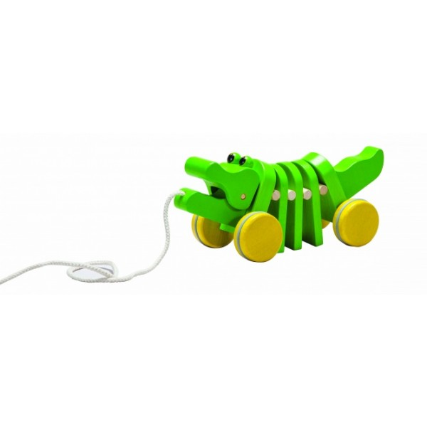 "PlanToys lavinamoji priemonė - žaislas ""Šokantis aligatorius"" (PT5105)"