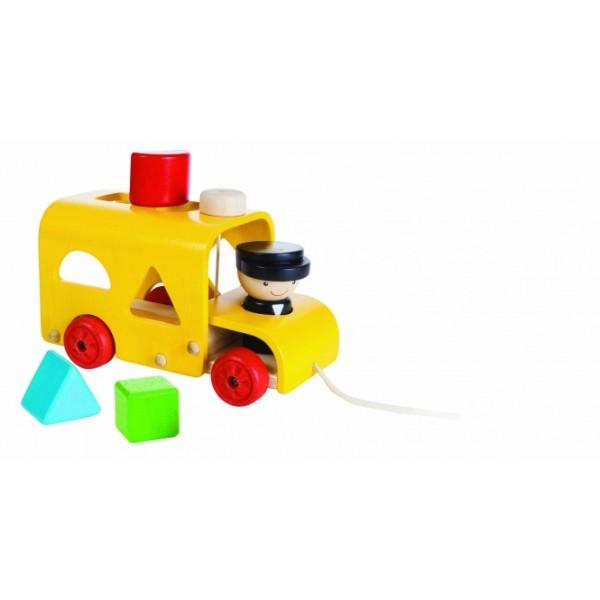 """PlanToys žaislas - """"Rūšiavimo autobusas"""" (PT5121)"""