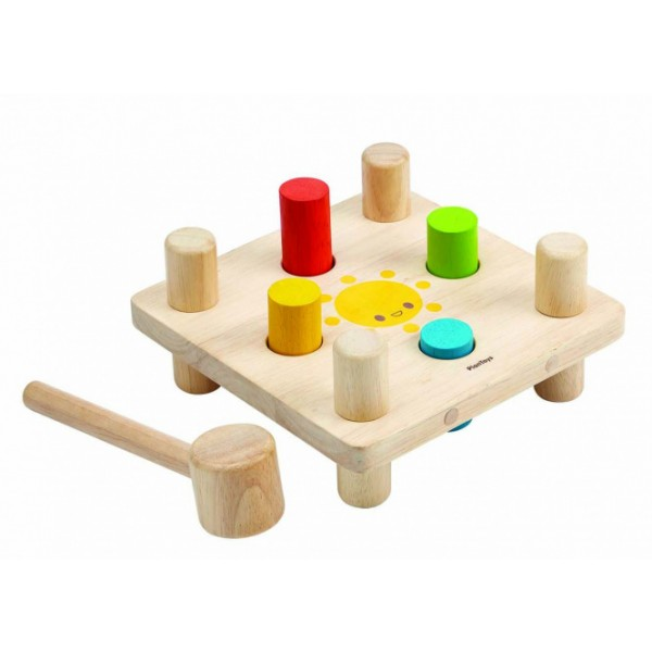 """PlanToys lavinamoji priemonė - žaislas """"Plaktukas su kaištukais"""" (PT5126)"""