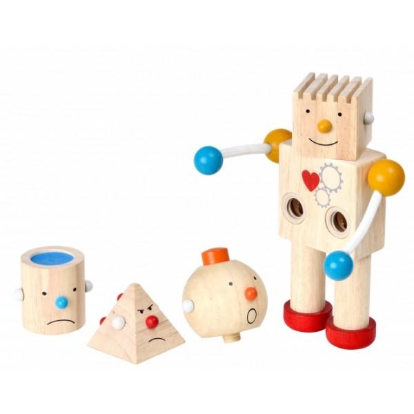"""PlanToys lavinamoji priemonė - žaidimas """"Pastatyk robotą"""" (PT5183)"""