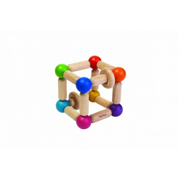 """PlanToys lavinimo priemonė - žaislas """"Kubas - barškutis"""" (PT5245)"""