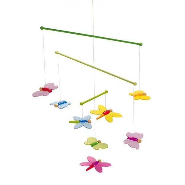 GOKI medinė karuselė - laisvai judantys drugeliai