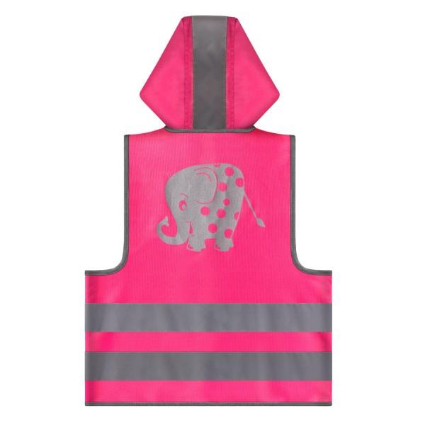 REER vaikiška dviratininko liemenė MyBuddyGuard, rožinis drambliukas