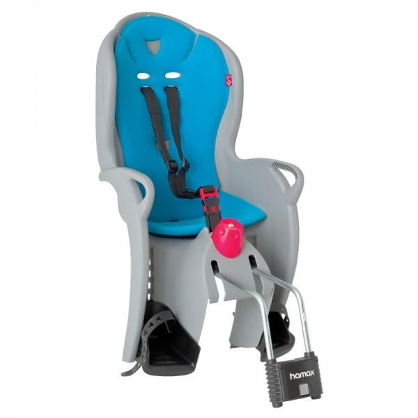 Dviračio vaikiška kėdutė Hamax Sleepy, ant rėmo (pilka/mėlyna)