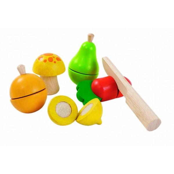 """PlanToys lavinamoji priemonė - žaidimas """"Vaisių ir daržovių rinkinys"""" (PT5337)"""