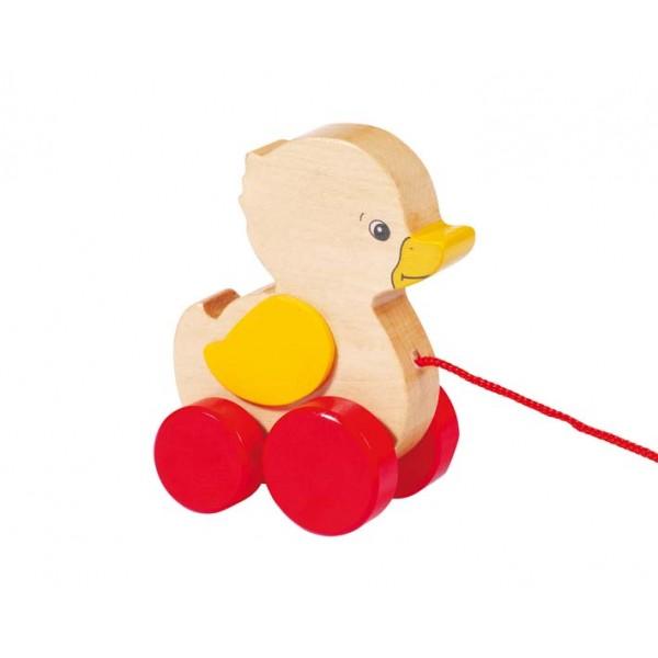 GOKI traukiamas medinis žaislas antytė