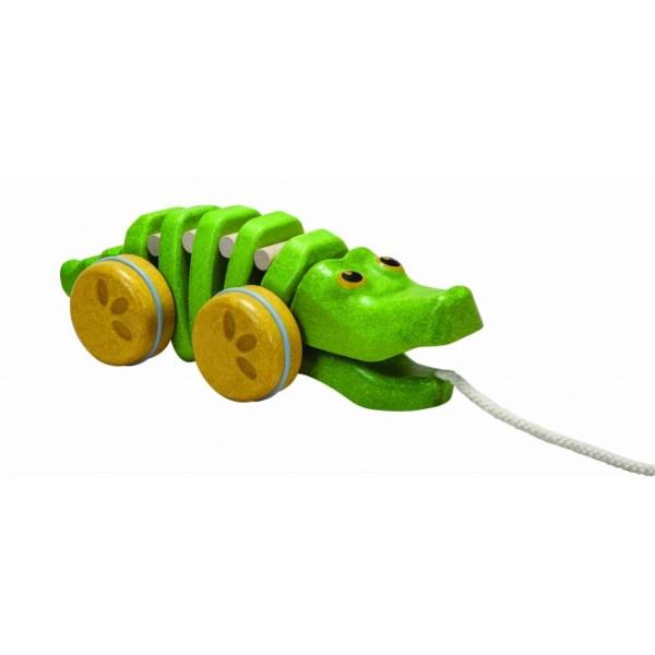 "PlanToys lavinamoji priemonė - žaislas ""Šokantis aligatorius"" (PT5609)"