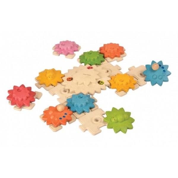 """PlanToys lavinamoji priemonė - žaislas """"Krumpliaračiai ir dėlionė - Deluxe"""" (PT5636)"""