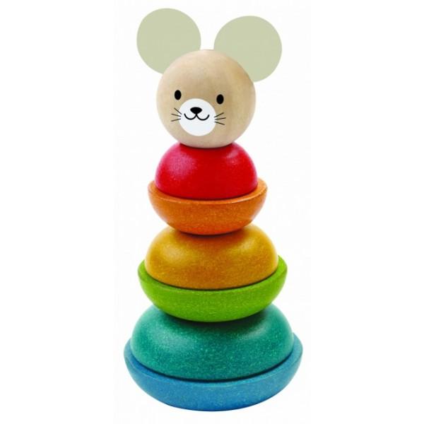 """PlanToys edukacinė priemonė - žaislas """"Piramidė. Pelė"""" (PT5681)"""