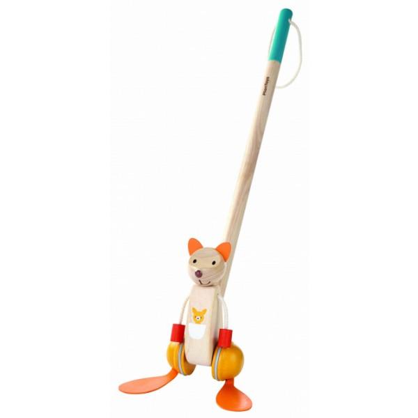 """PlanToys žaislas - stumdukas """"Šokanėjanti Kengūra"""" (PT5700)"""