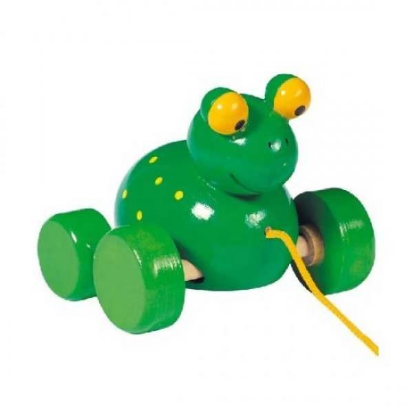GOKI traukiamas medinis žaislas Varlytė