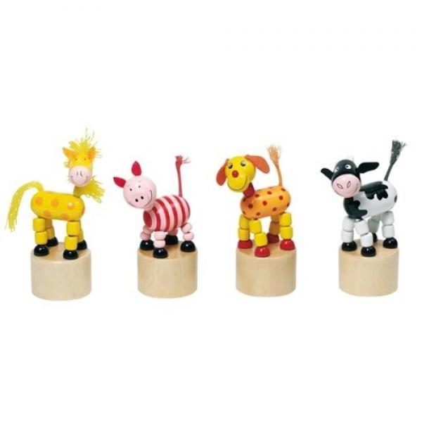 GOKI judantys paspaudžiant žaisliukas gyvuliukas