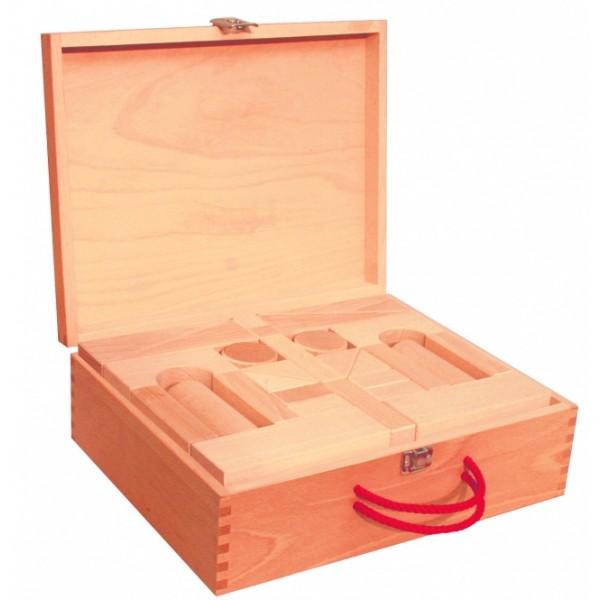 Frobel medinių kaladėlių rinkinys - 60 kaladėlių mediniame portfelyje (205019)