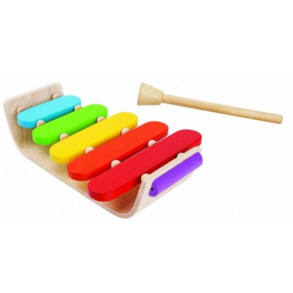 """PlanToys lavinimo priemonė - muzikos instrumentas """"Medinis ksilofonas"""" (PT6405)"""