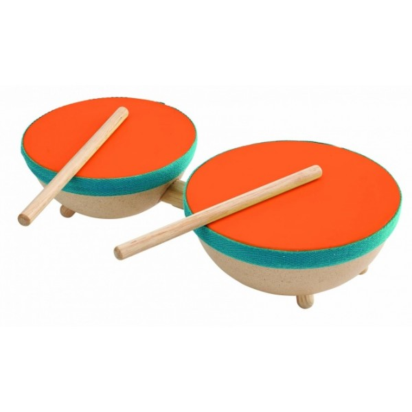 """PlanToys lavinimo priemonė - muzikos instrumentas """"Dvigubas būgnas"""" (PT6425)"""