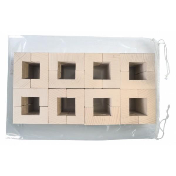 Frobel medinių kaladėlių rinkinys - 64 kaladėlės (108033)