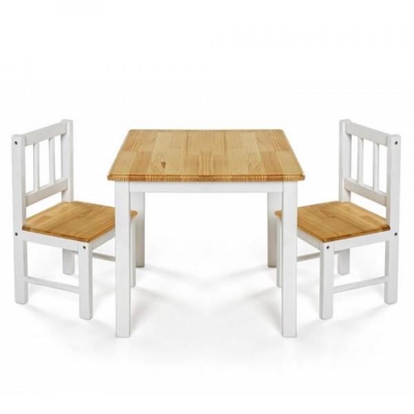 REER medinis staliukas ir dvi kėdutės