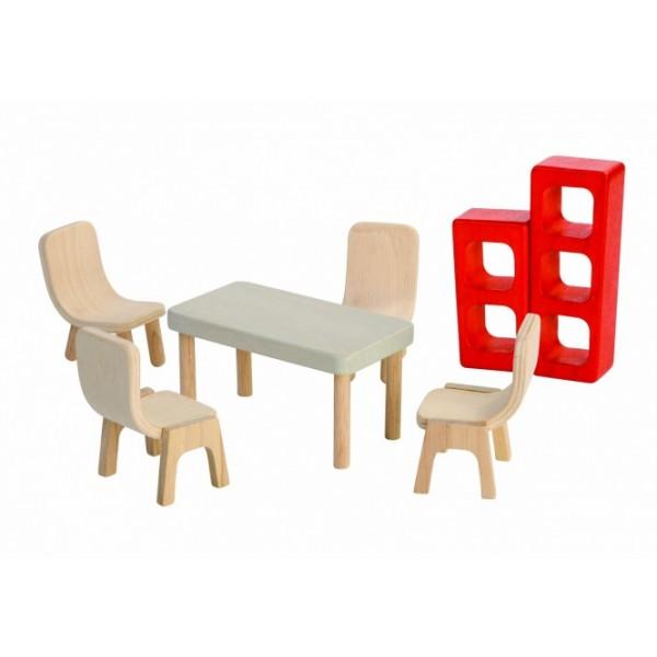 """PlanToys lavinimo priemonė - lėlių baldai """"Valgomasis"""" (PT7348)"""