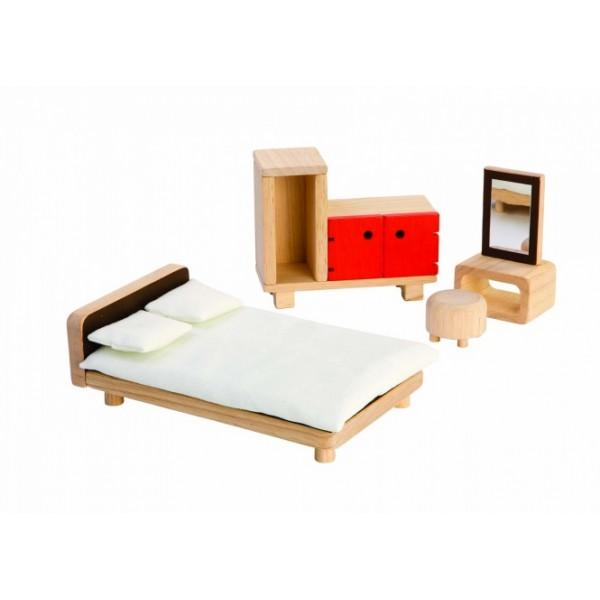 """PlanToys žaislai - lėlių namelio baldai """"Tėvų kambarys"""" (PT7349)"""