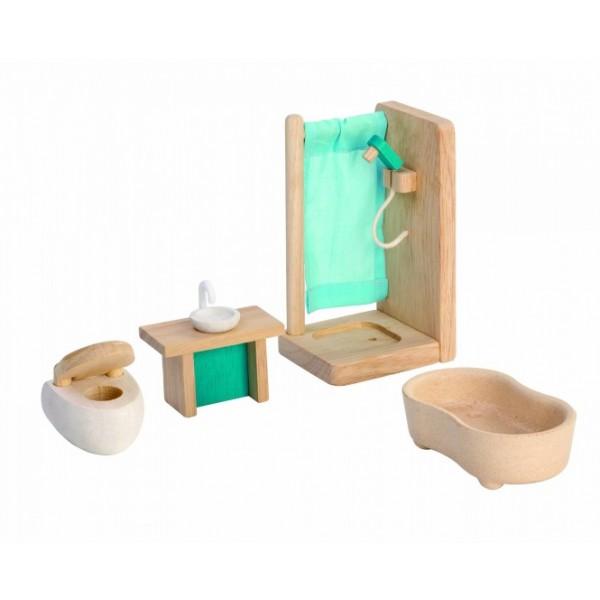 """PlanToys lavinimo priemonė - lėlių baldai """"Dušo kambarys"""" (PT7351)"""
