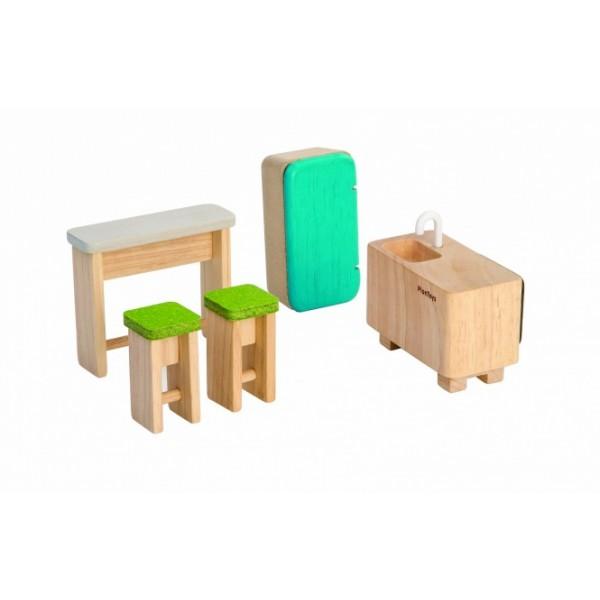 """PlanToys žaislas - lėlių namelio baldai """"Virtuvė"""" (PT7352)"""