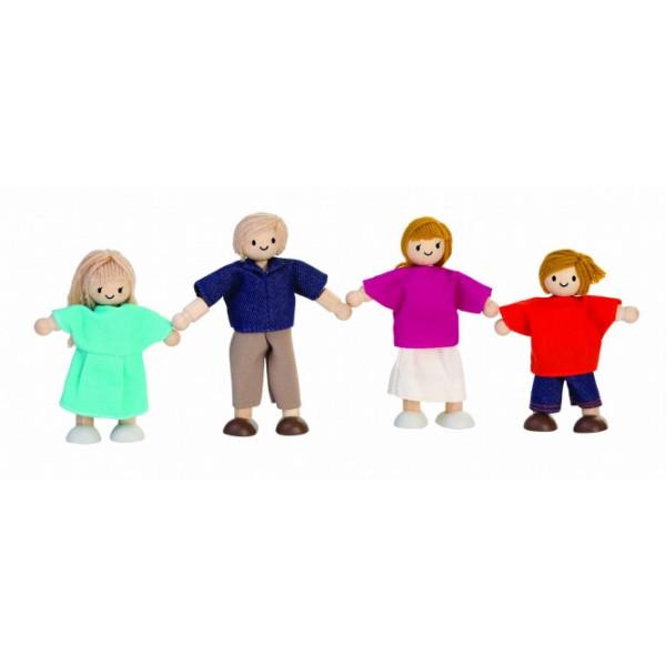"""PlanToys lavinamoji priemonė - lėlių šeima """"Europiečiai"""" (PT7415)"""