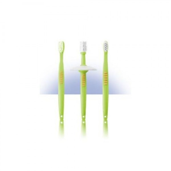 REER dantų šepetukų vaikams su apsauga rinkinys