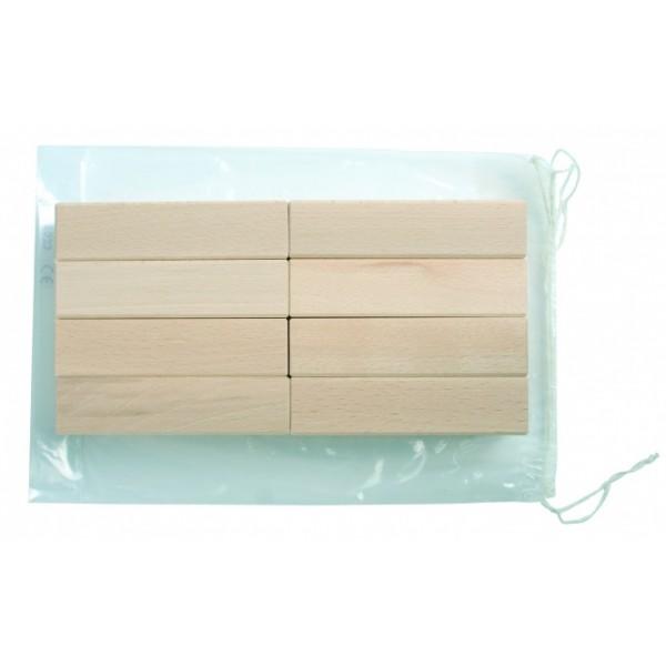 Frobel medinių kaladėlių rinkinys - 8 kaladėlės (101033)