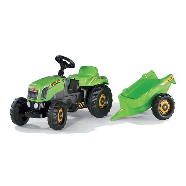 Rolly Toys  vaikiškas traktorius Green su priekaba