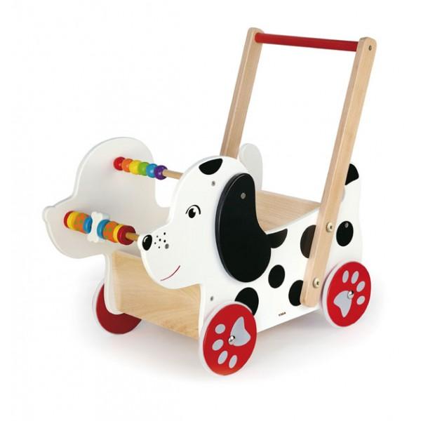 VIGA medinis vežimėlis lėlėms