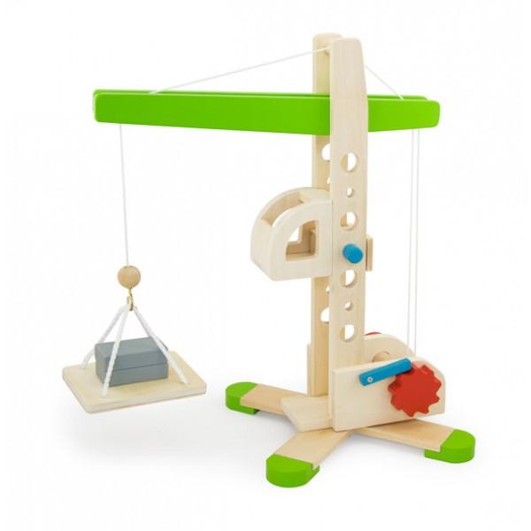 Viga Toys medinis kranas