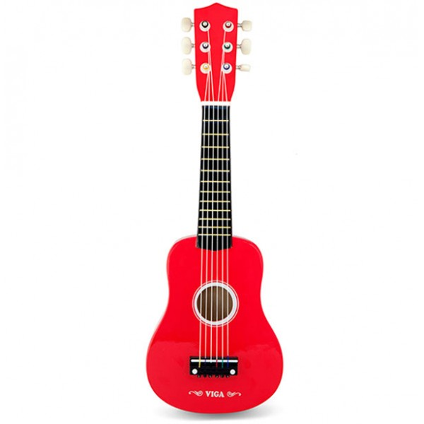 Viga Toys raudona gitara